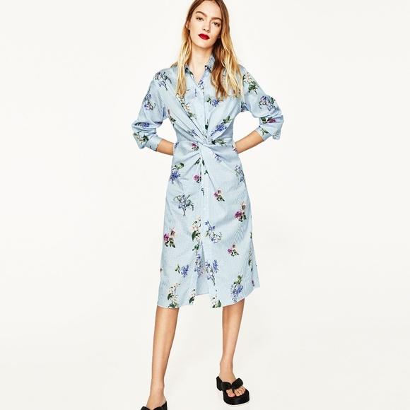 db54ec5047a0 ... BLUE WHITE FLORAL PRINTED dress. M 5b21c4ed951996acae27b293